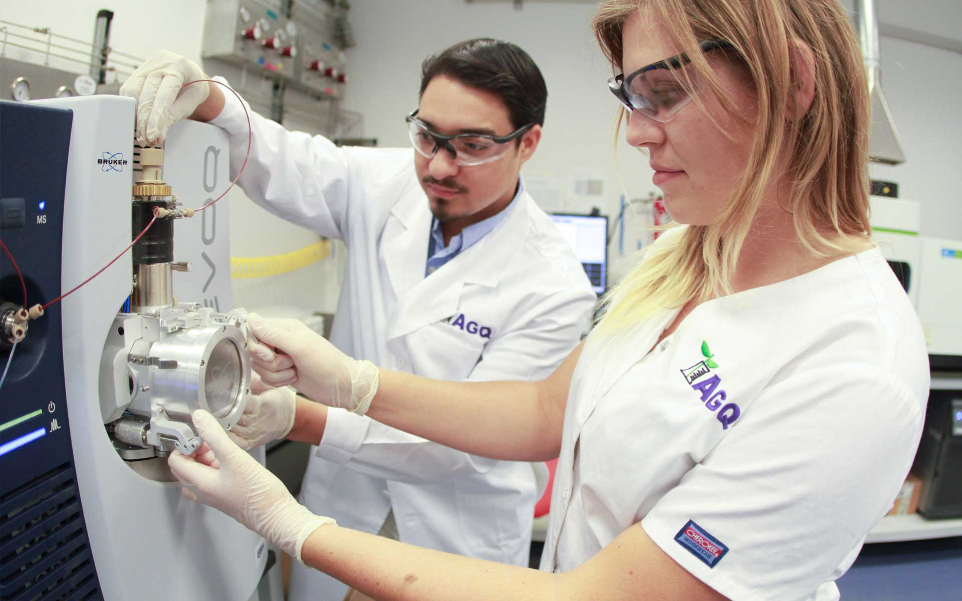 Laboratory technicians of AGQ Labs South Africa